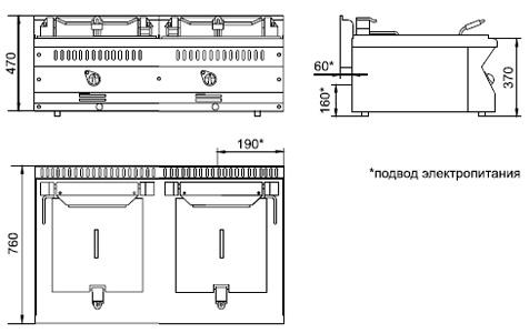 Схема фритюрницы ЭФК-80/2Н