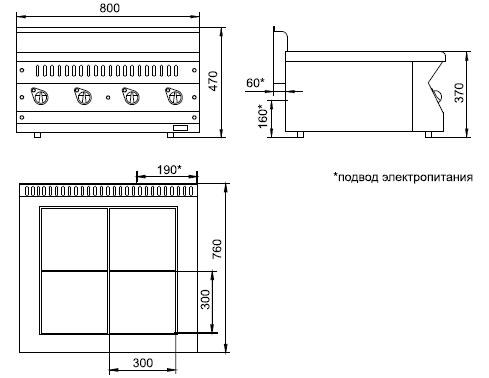 Схема электрической плиты ЭПК-