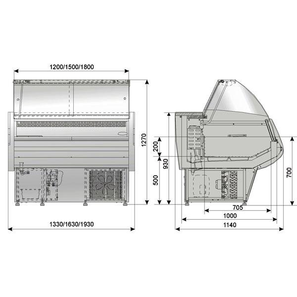 Схема витрины Нарочь ВН