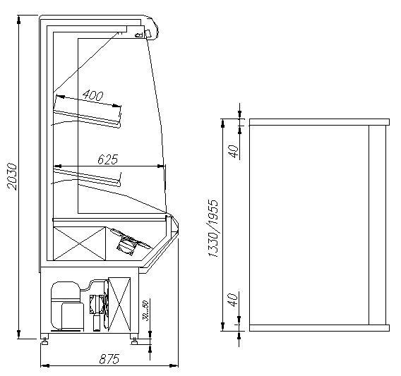 Холодильная горка Carboma ВХСд-1,3 Фруктовая